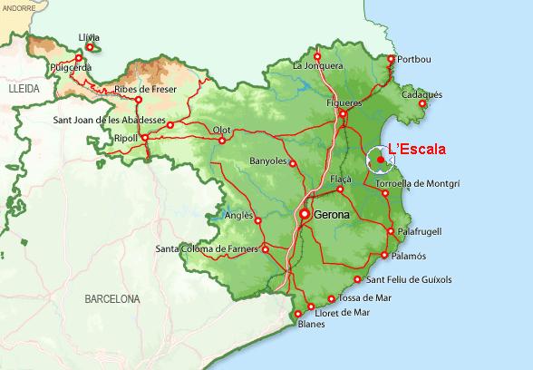 carte espagne escala